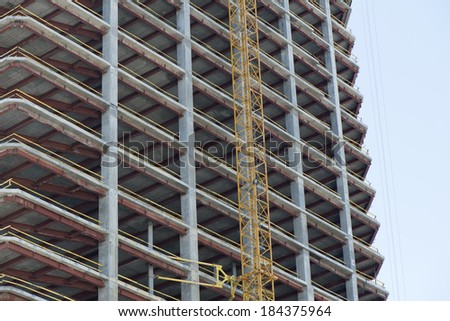 Construction of urban residential highrise building