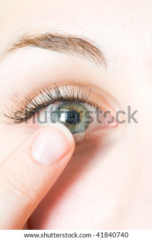 Contact lenses for eyes