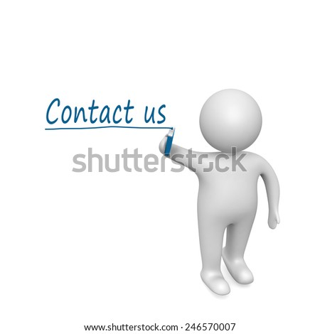 Contact us  drawn by a man