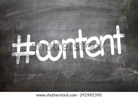 #content written on a chalkboard - stock photo