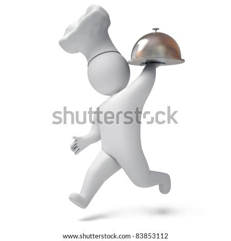 Cook 3d render - stock photo