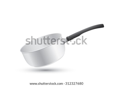 cooking pot isolated on white background - stock photo