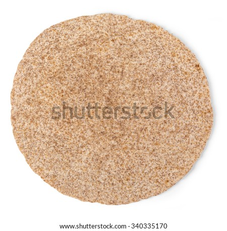 corn tortillas on a white background with clipping path