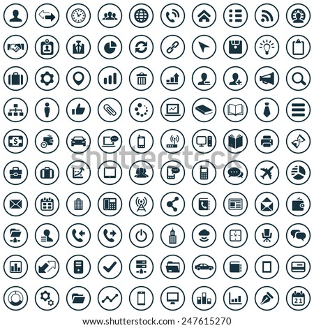 100 corporate icons big universal set