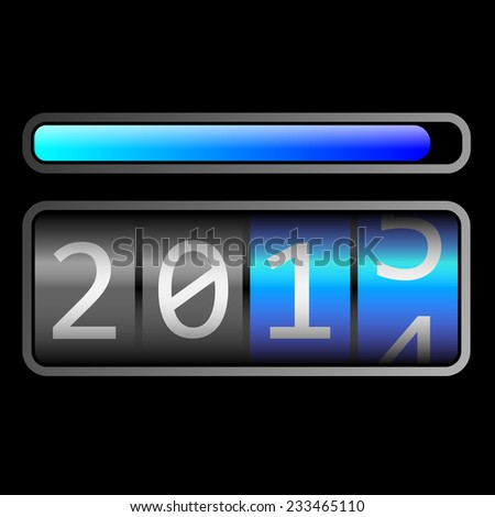 2015 countdown - stock photo