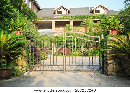 country house - stock photo