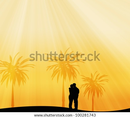 couple in tropic