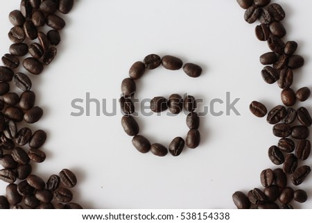 creative coffee bean alphabet set