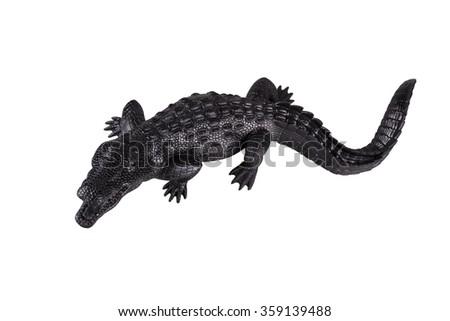 Crocodile isolated on white. - stock photo