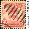 CUBA - CIRCA 1899: a stamp printed in the Cuba shows Royal Palms, Roystonea Regia, National Tree of Cuba, circa 1899 - stock photo