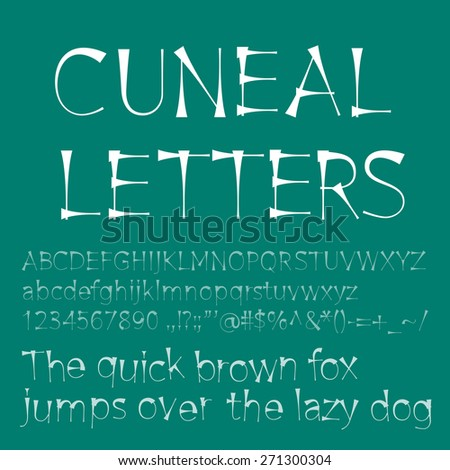 cuneal letters and numbers. . RGB. Global color. Gradients free - stock photo