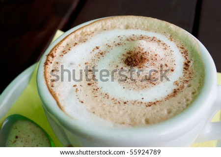 Cup of Cappuccino - stock photo