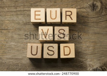 Currency euro dollar rate concept  - stock photo