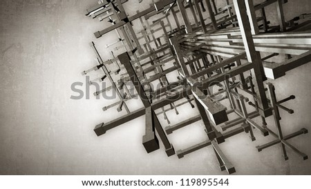 3D abstract background High resolution 3d render - stock photo