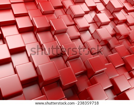 3d abstract background of cubes. blocks structure construction - stock photo