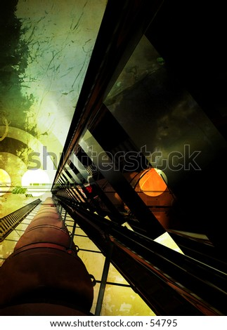 3D Abstract Background One - stock photo