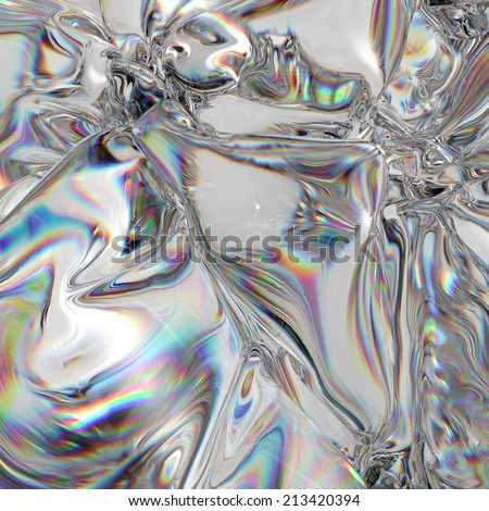 3d abstract background, rainbow light effect, foil - stock photo