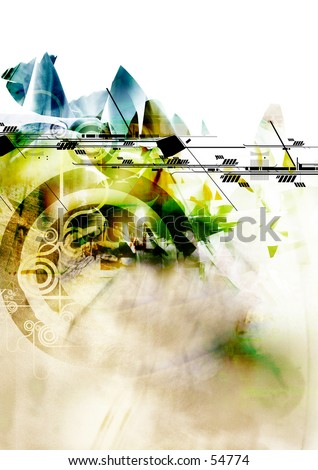3D Abstract Background Three - stock photo