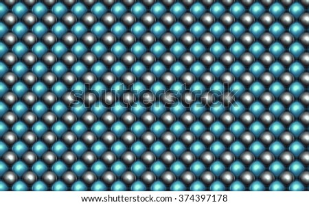3d abstract background with gold balls and blue ball. - stock photo