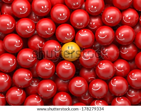 3d abstract balls background, demographic chart, social concept - stock photo