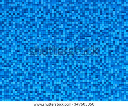 3D Abstract Blue color Background volumetric pixel, Bas relief background - stock photo