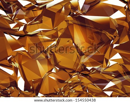 3d abstract brown crystal glass background texture - stock photo