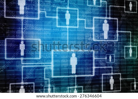2d abstract business or social networking concept - stock photo
