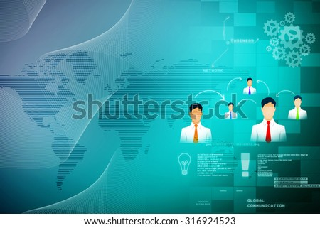 2d abstract business or social networking concept