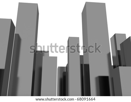 3D abstract city illustration