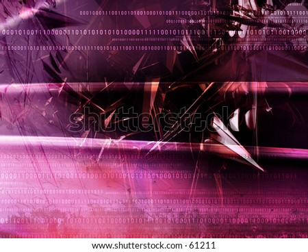 3D Abstract Code - stock photo