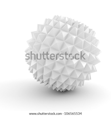 3d abstract colorful sphere on white background - stock photo