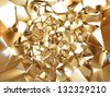 3d abstract crystal gold background texture - stock vector