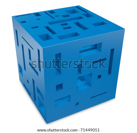 3d abstract cube construction