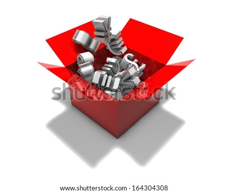 3d abstract forex market concept illustration isolated - stock photo