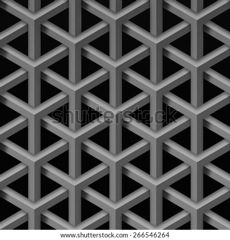 3d abstract geometric seamless background  - stock photo