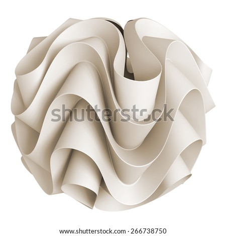 3d abstract geometrical creative form - stock photo