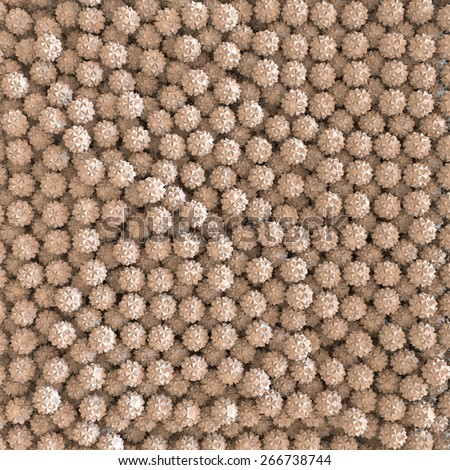 3d abstract geometrical creative form background - stock photo