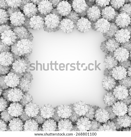 3d abstract geometrical creative form frame background - stock photo