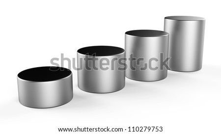 3d abstract round metal bars...