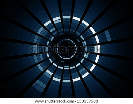 3D abstract science fiction futuristic background - Space travel - Teleport