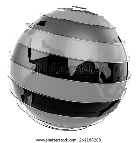 3d abstract techno globe