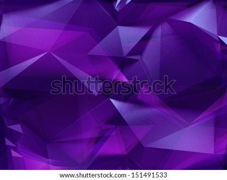 3d abstract violet purple crystal background