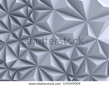 3d abstract white architectural background - stock photo
