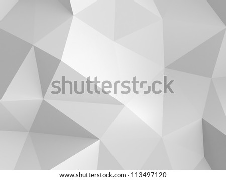 3d  abstract white paper background - stock photo
