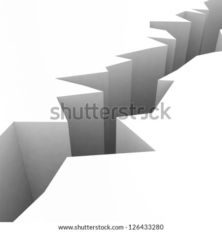 3d abyss on white background