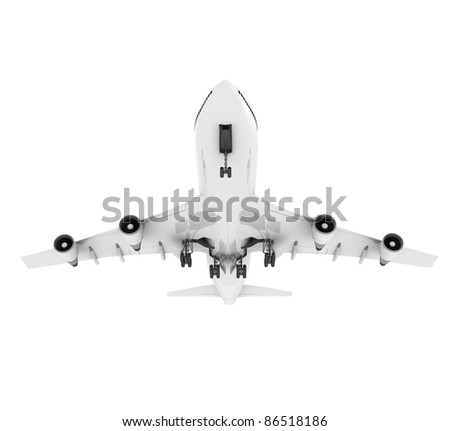 3d airplane - stock photo