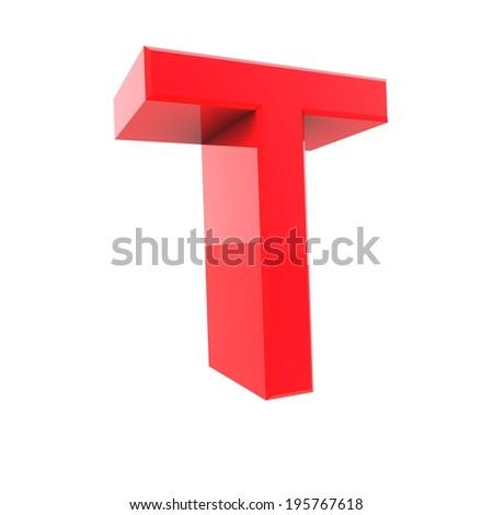 3d alphabet collection - T - stock photo
