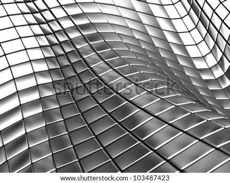 3d Aluminum abstract silver metal background illustration