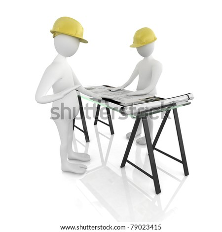 3d architect - stock photo