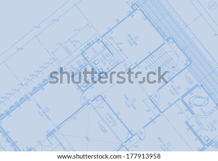 3d Architecture Sketch - stock photo